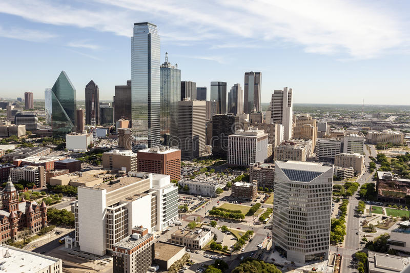 Im Stadtzentrum gelegene Skyline Dallas stockfoto