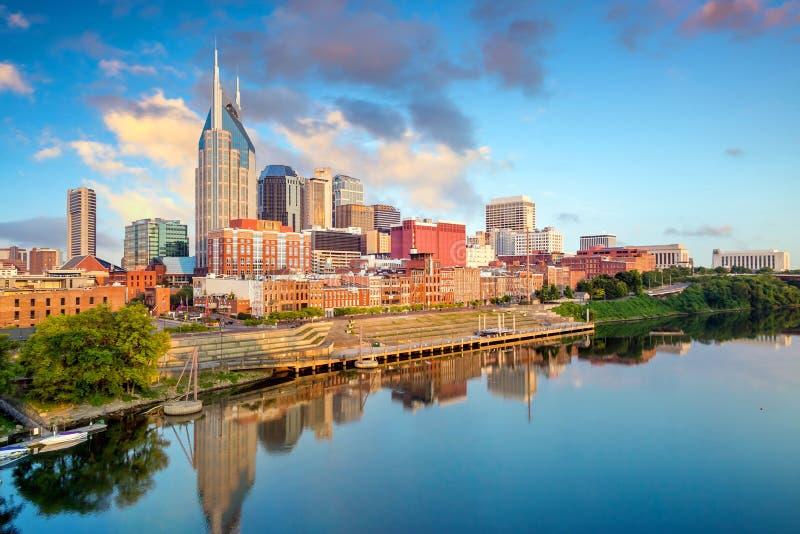 Im Stadtzentrum gelegene Skyline Nashville-, Tennessee lizenzfreie stockfotografie