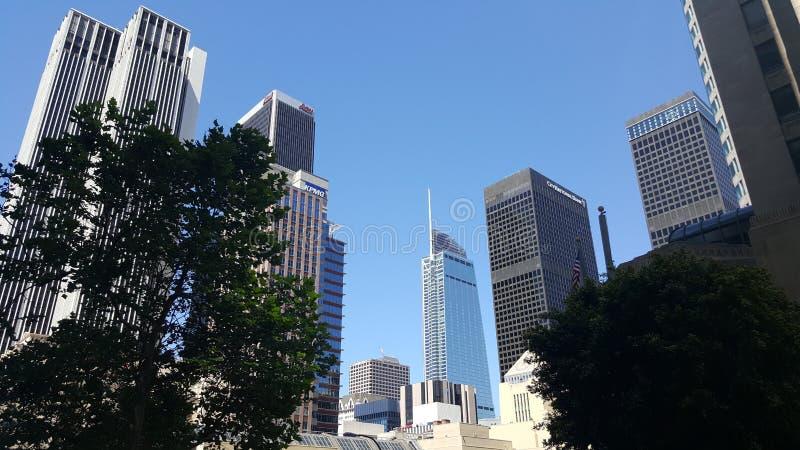 Im Stadtzentrum gelegene Wolkenkratzer Los Angeles lizenzfreies stockfoto