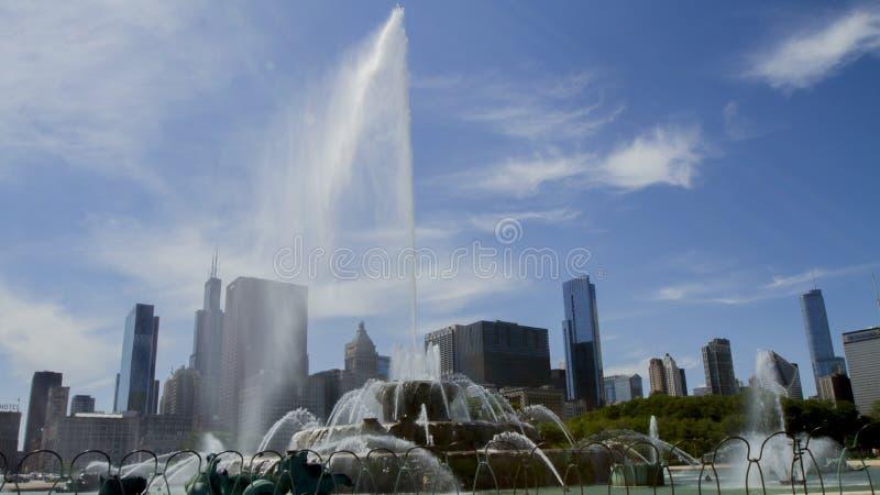 Im Stadtzentrum gelegener Chicago-Kongreß stockbilder