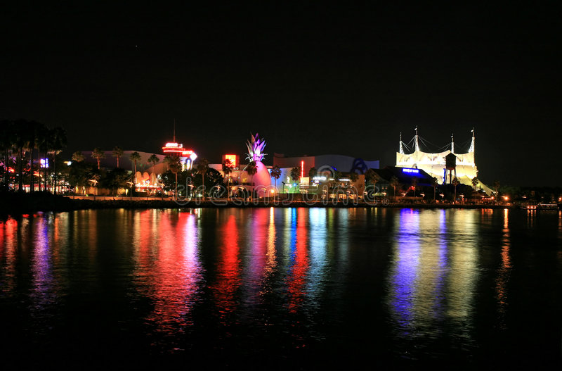 Im Stadtzentrum gelegener Disney in Orlando stockfotos