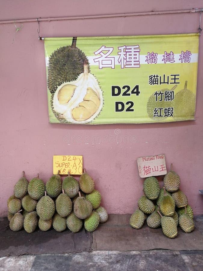 Im Stadtzentrum gelegener Durian König Marktes D24 Musang Malaysias Kuala Lumpur lizenzfreie stockbilder