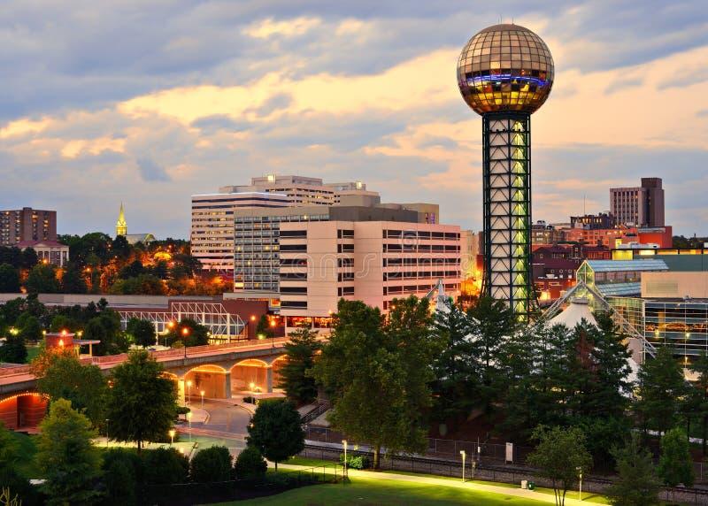 Im Stadtzentrum gelegener Knoxville lizenzfreie stockfotografie