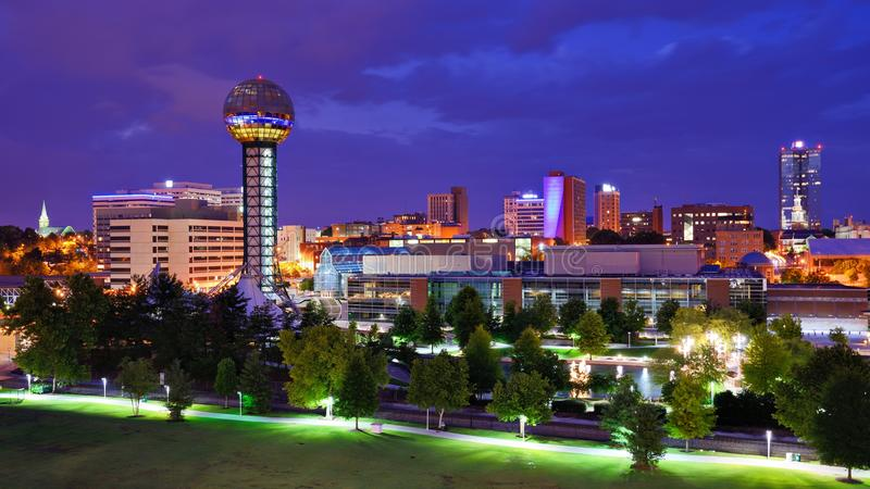 Im Stadtzentrum gelegener Knoxville lizenzfreies stockbild