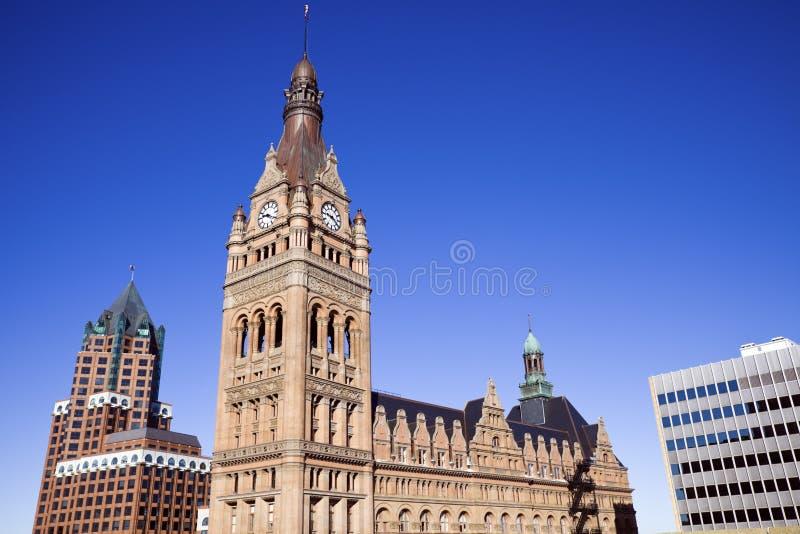 Im Stadtzentrum gelegener Milwaukee lizenzfreies stockbild