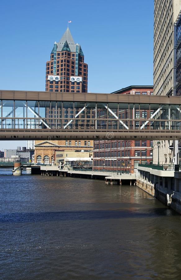 Im Stadtzentrum gelegener Milwaukee stockfotos
