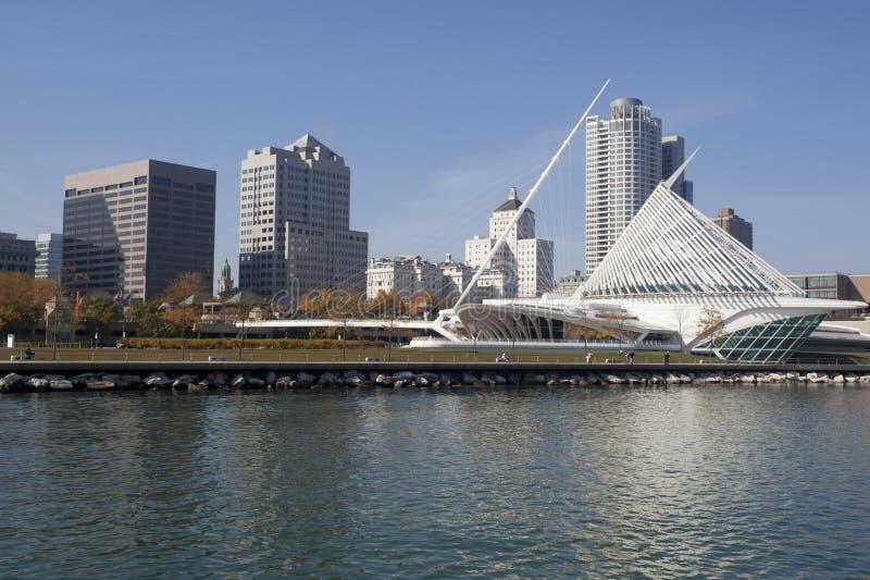 Im Stadtzentrum gelegener Milwaukee Wisconsin stockfotografie