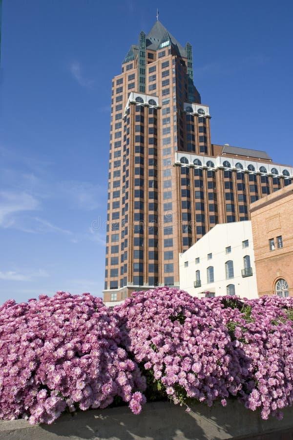 Im Stadtzentrum gelegener Milwaukee, Wisconsin. lizenzfreie stockfotos
