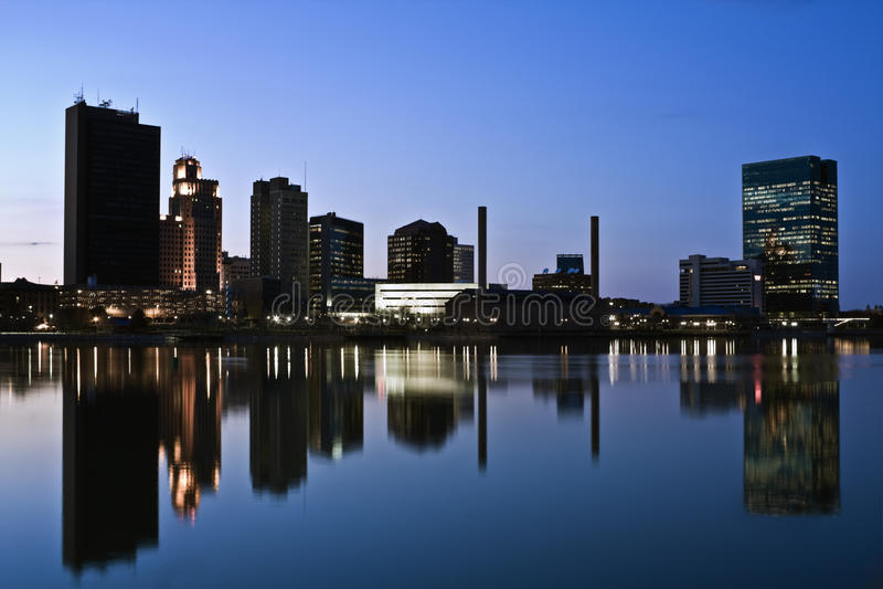 Im Stadtzentrum gelegener Toledo stockfotografie