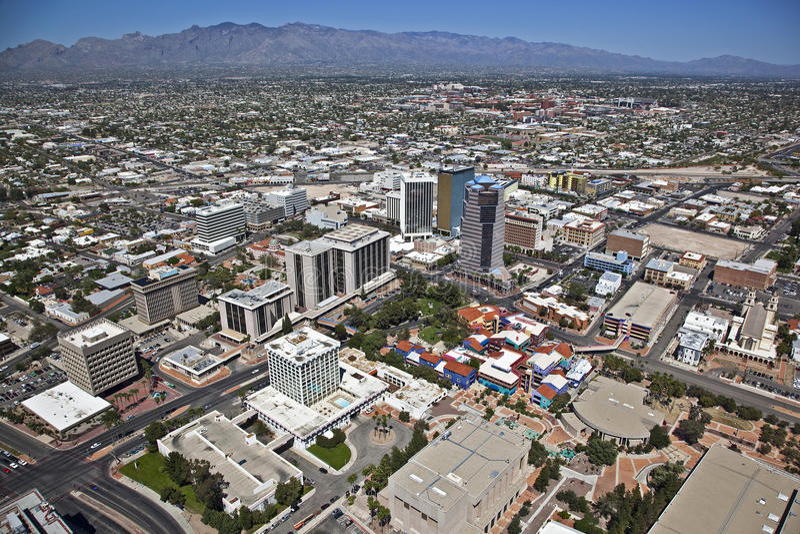 Im Stadtzentrum gelegener Tucson, Arizona lizenzfreie stockbilder