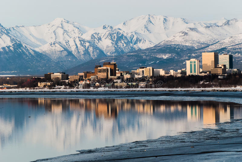 Anchorage-Stadt lizenzfreie stockfotografie