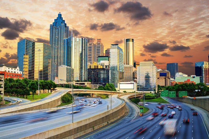 Im Stadtzentrum gelegenes Atlanta lizenzfreie stockfotografie