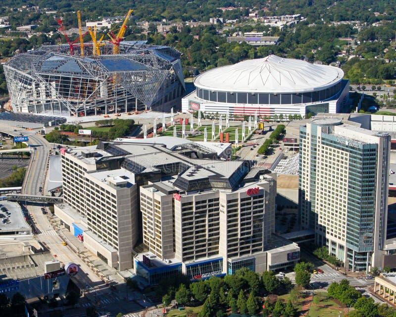 Im Stadtzentrum gelegenes Atlanta, GA lizenzfreies stockbild