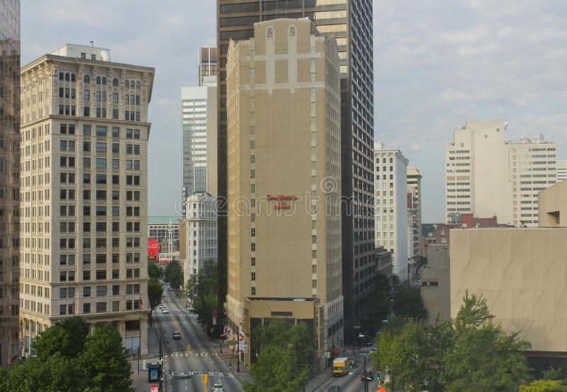 Im Stadtzentrum gelegenes Atlanta, Georgia, USA lizenzfreie stockfotografie