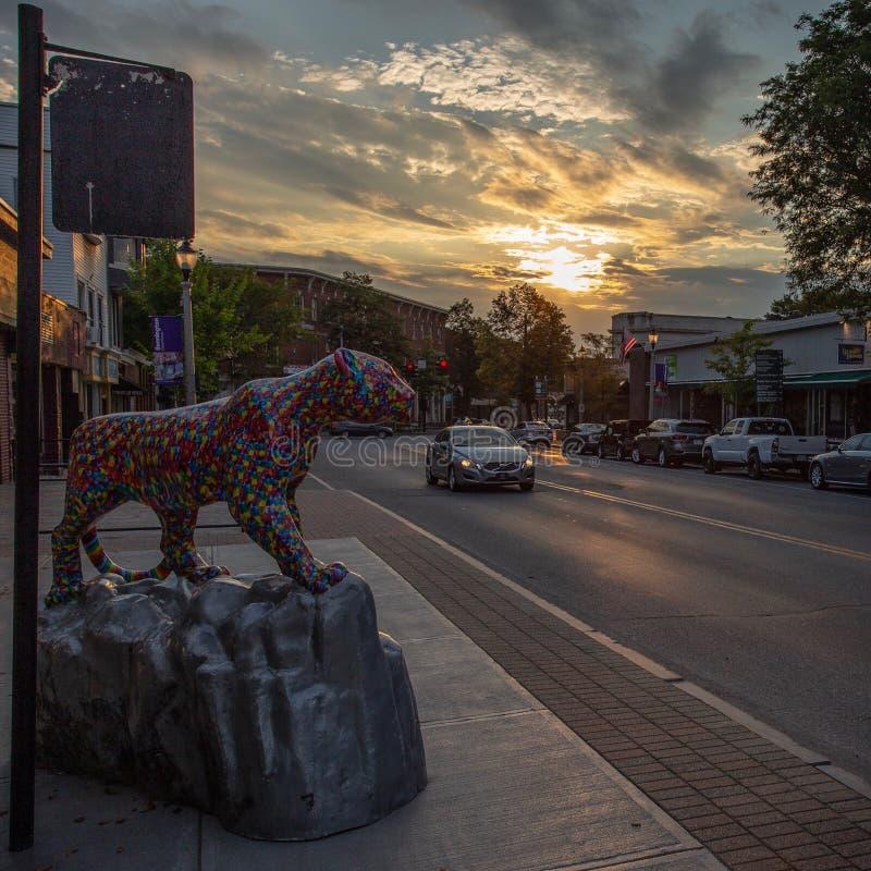 Im Stadtzentrum gelegenes Bennington Vermont lizenzfreie stockfotografie