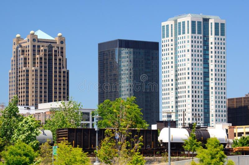 Im Stadtzentrum gelegenes Birmingham, Alabama lizenzfreies stockfoto