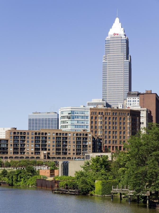 Im Stadtzentrum gelegenes Cleveland lizenzfreie stockbilder