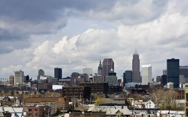 Im Stadtzentrum gelegenes Cleveland - ein anderer Winkel stockbilder