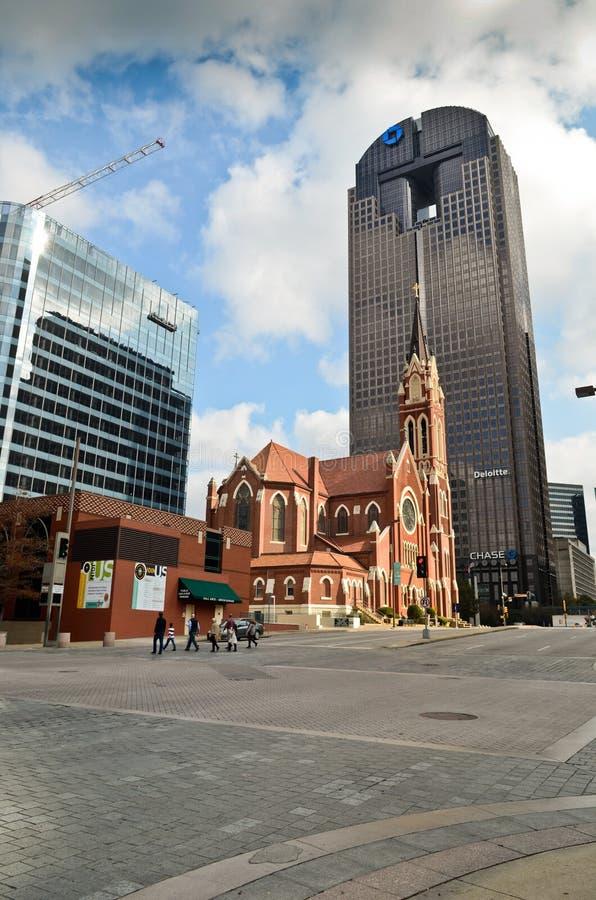 Im Stadtzentrum gelegenes Dallas stockfotografie