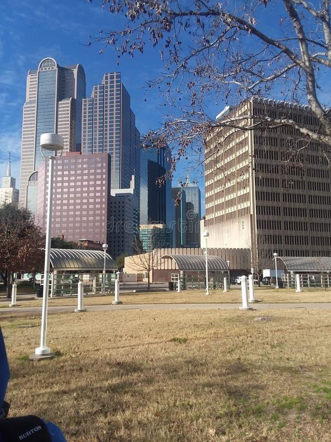Im Stadtzentrum gelegenes Dallas, Texas lizenzfreie stockfotografie