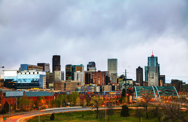 Im Stadtzentrum gelegenes Denver, Kolorado lizenzfreies stockfoto