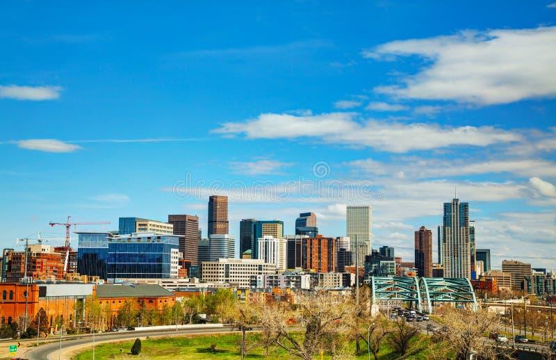 Im Stadtzentrum gelegenes Denver, Kolorado stockfotos