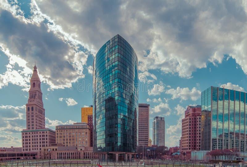 Im Stadtzentrum gelegenes Hartford Connecticut stockfotos