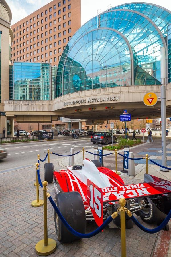 Im Stadtzentrum gelegenes Indianapolis stockfotos