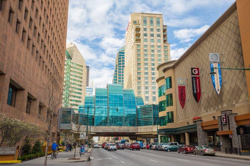 Im Stadtzentrum gelegenes Indianapolis lizenzfreies stockbild