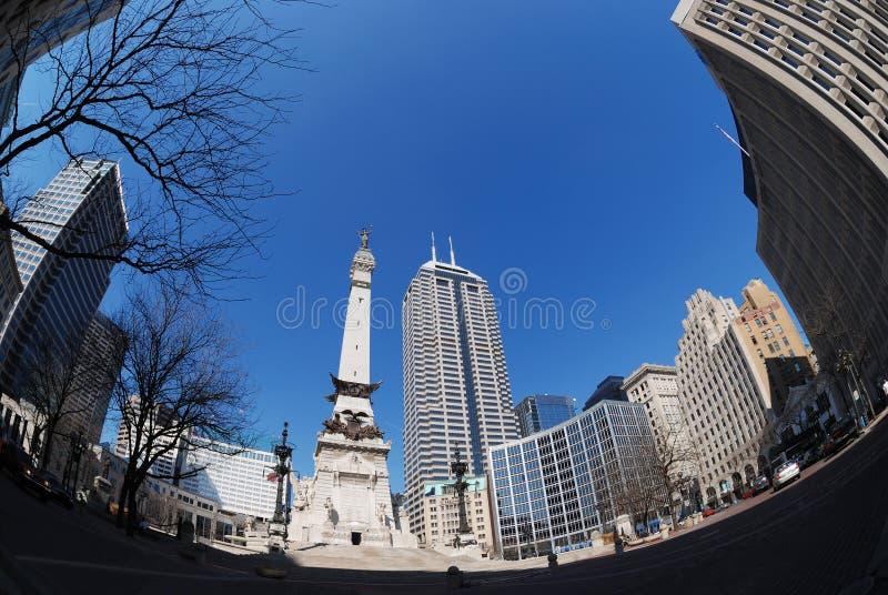 Im Stadtzentrum gelegenes Indianapolis stockbilder
