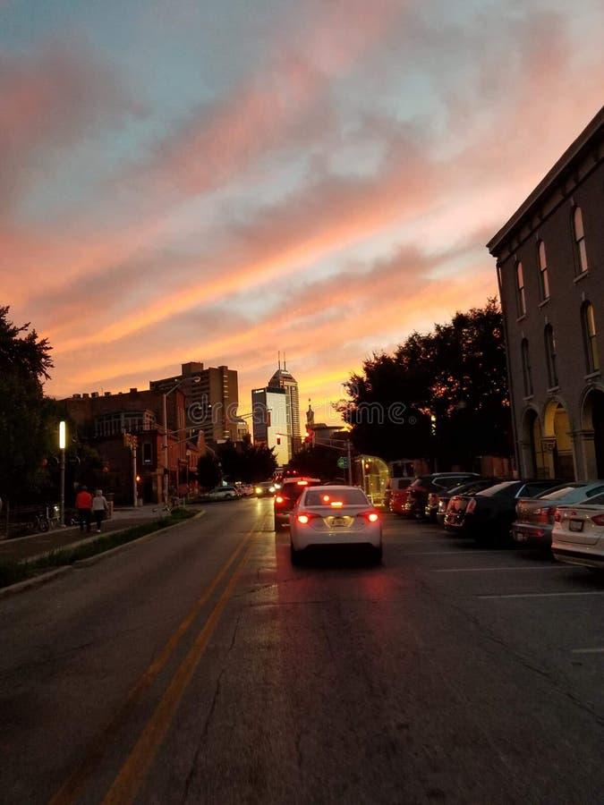 Im Stadtzentrum gelegenes Indianapolis stockfotografie
