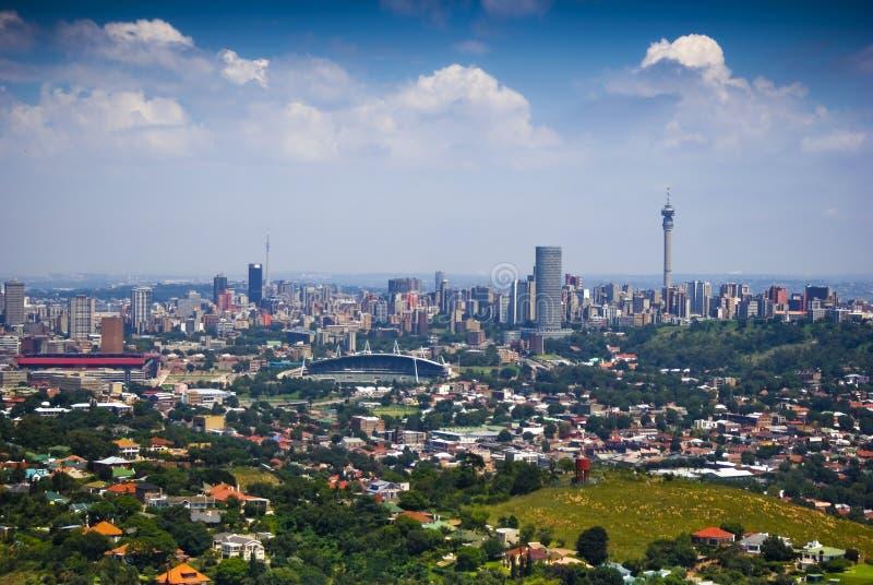 Im Stadtzentrum gelegenes Johannesburg stockbilder