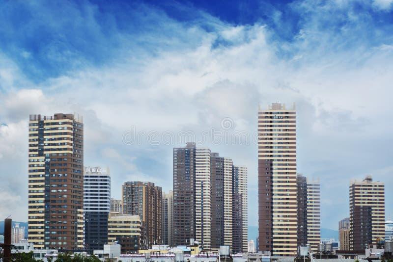 Im Stadtzentrum gelegenes Kunming, lizenzfreies stockbild