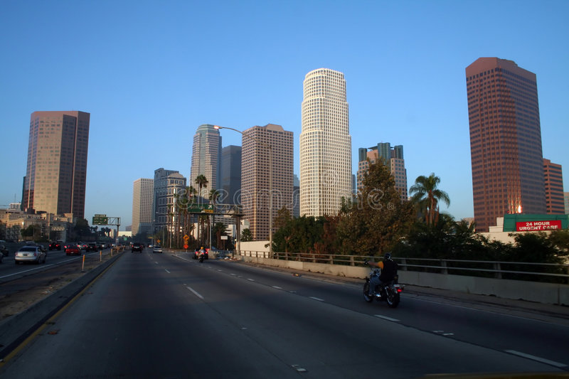 Im Stadtzentrum gelegenes Los Angeles stockbild