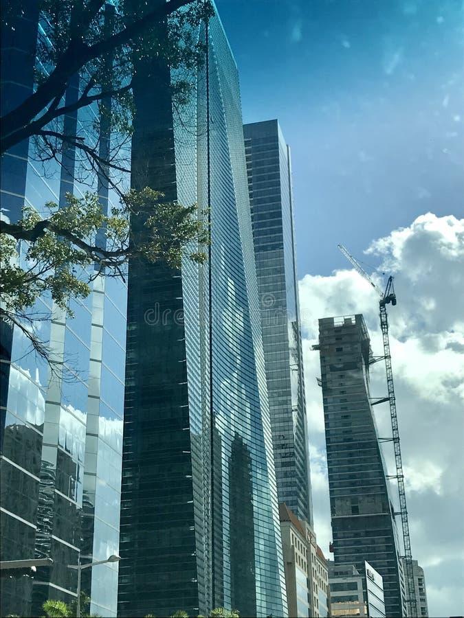 Im Stadtzentrum gelegenes Miami lizenzfreie stockfotografie