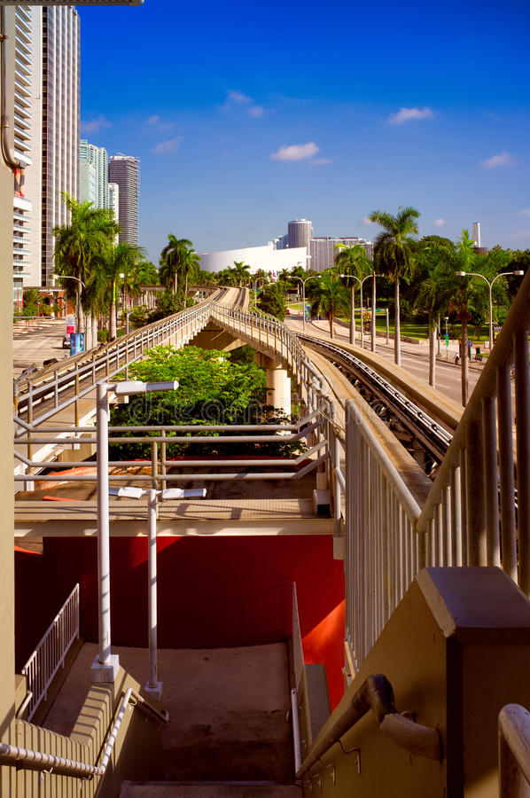 Im Stadtzentrum gelegenes Miami stockfotos