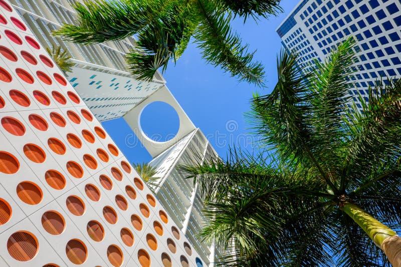 Im Stadtzentrum gelegenes Miami stockfotografie
