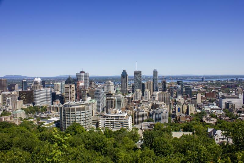 Im Stadtzentrum gelegenes Montreal an einem Sommertag stockbild