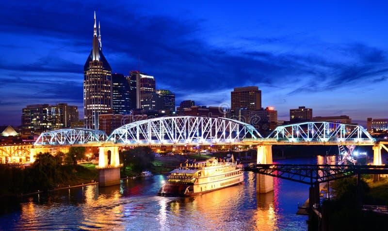 Im Stadtzentrum gelegenes Nashville lizenzfreie stockfotos