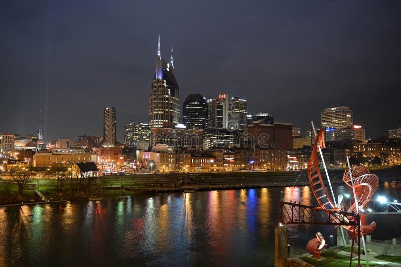 Im Stadtzentrum gelegenes Nashville Tennessee lizenzfreie stockfotografie