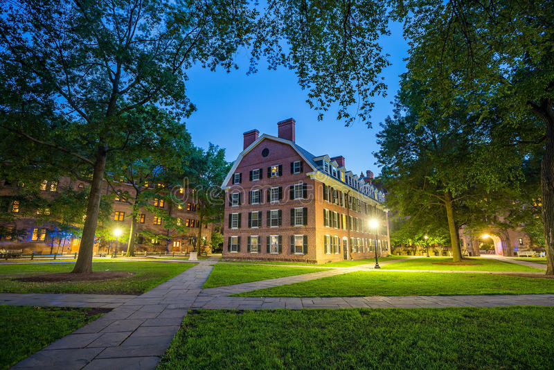 Im Stadtzentrum gelegenes New-Haven und Yale University lizenzfreies stockbild