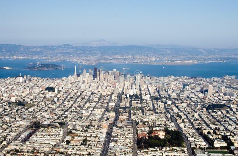 Im Stadtzentrum gelegenes San Francisco stockfotos