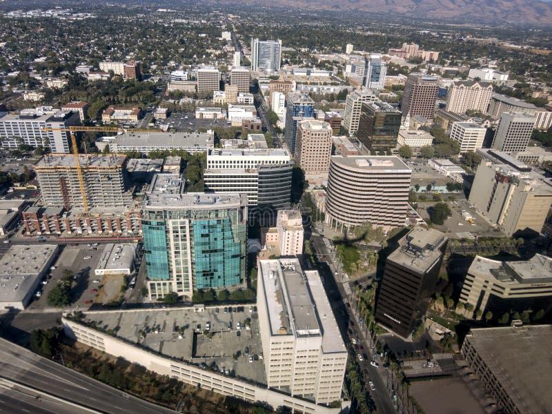 Im Stadtzentrum gelegenes San Jose lizenzfreie stockbilder
