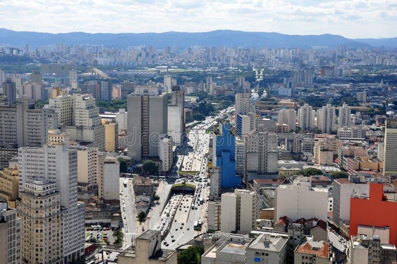 Im Stadtzentrum gelegenes Sao Paulo, Brasilien lizenzfreies stockbild