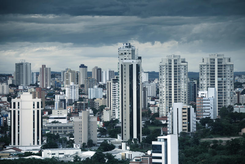 Im Stadtzentrum gelegenes Sorocaba in Brasilien stockfotos