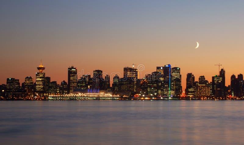Im Stadtzentrum gelegenes Vancouver lizenzfreies stockfoto