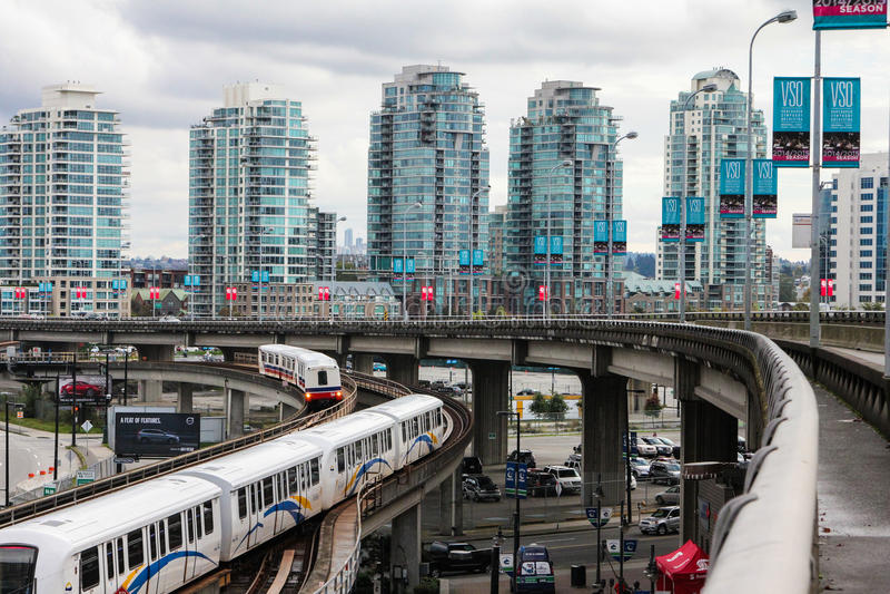 Im Stadtzentrum gelegenes Vancouver, Britisch-Columbia stockfotografie