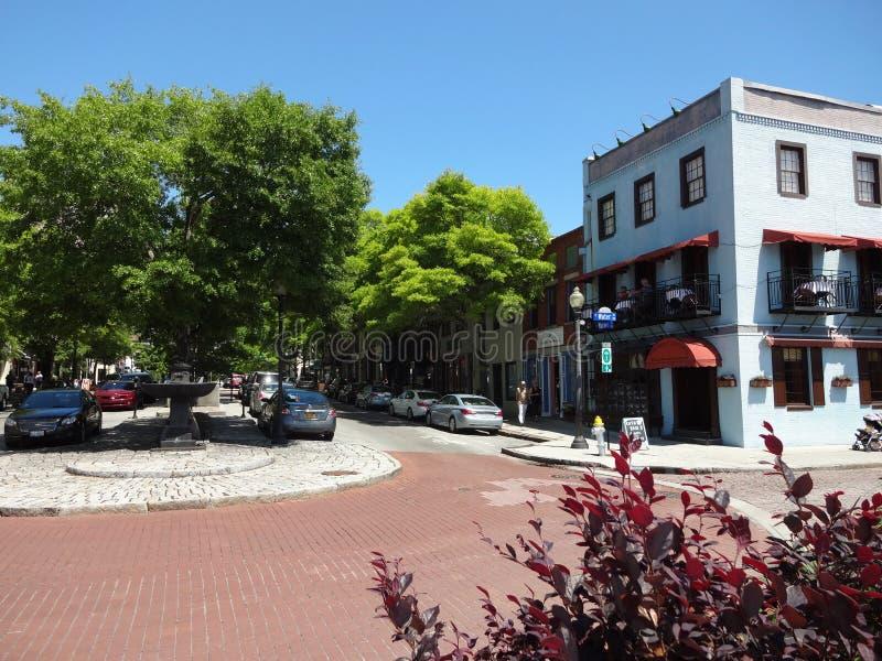 Im Stadtzentrum gelegenes Wilmington, NC stockfotografie