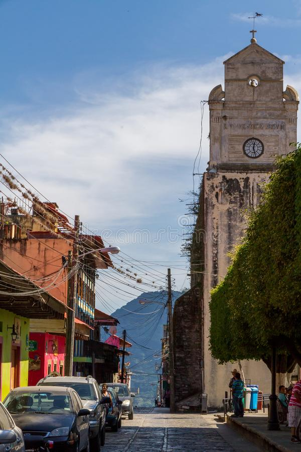 Im Stadtzentrum gelegenes Xilitla, San Luis Potosi - Mexiko stockbild