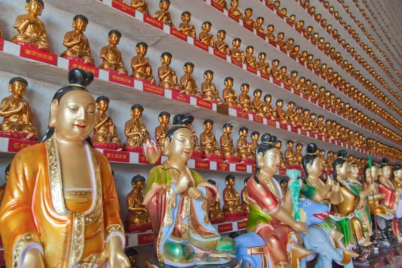 Im Tempel der 10 000 buddhas stockbild